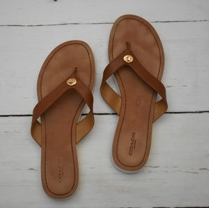 Coach | Leather Flip flops | sz 9.5